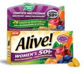 Alive! Women's 50+ Once Daily Multivitamin and Multimineral 50 Tablets for $6.98