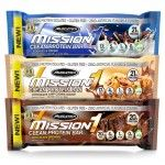 4 x MuscleTech Mission1 Protein Bars (40 bars) - <span>$19.99<span>