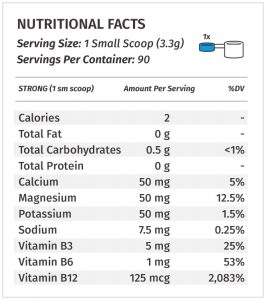Metabolic Nutrition ESP label