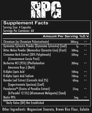 Redcon1 RPG Supplement Facts