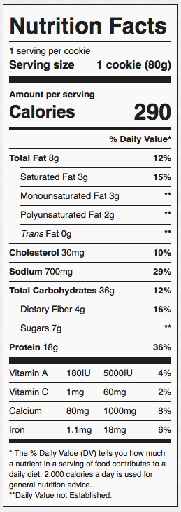 ProSupps MyCookie Nutrition Facts