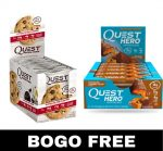 Quest Protein Cookie + Ouest Hero bars - <span> $24.99</span> w/Campus Protein Coupon