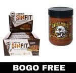 SinFit Protein Bars (BOX) + Angry Mills Nut Spread - <span> $27.99</span> w/Campus Protein Coupon