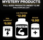 Top Brand 'Mystery' Pre Workout - <span>$9.99!</span> LIMITED QTY