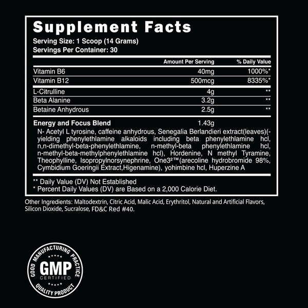 Steel Supplements AMPED AF Label