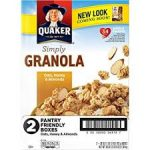 2/pk Quaker Simply Granola - <span>$6.5</span> w/ Coupon
