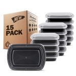 15-Pack Freshware Meal Prep Containers - <span> $10.99 Shipped </span>