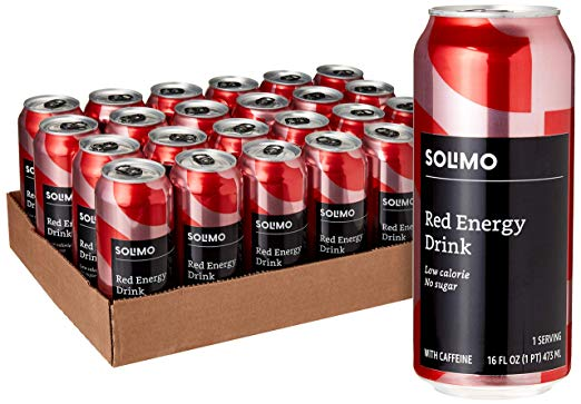 24/pk Solimo Red Energy Drinks -  <span> $28 Shipped</span>