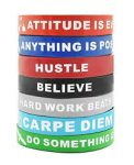 Motivational Silicone Wristbands - <span> $11.79 Shipped</span>