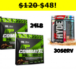 24LB Combat XL Mass Gainer + HYDE NITROX (30s) - <span>$47.99!!</span> (compare to $120)