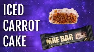 MRE Bars Iced Carrot cake