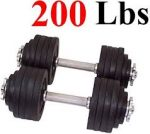 One Pair of Adjustable Dumbbells Kits-200lbs by Unipack - <span> $202.75 Shipped </span>
