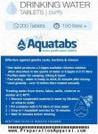 Water Purification Tablets - 200 Aquatabs - <span> $19.99 Shipped</span>