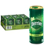 30/pk Perrier Lime Flavored Carbonated Mineral Water - <span> $10 Shipped </span>