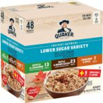 48/pk Quaker Instant Oatmeal Lower Sugar -  <Span>$7.5 Shipped</span> w/ Amazon Coupon
