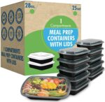 25-Pack SafeWare Meal Prep Containers - <span> $13.99 Shipped </span>
