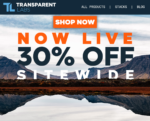 TRANSPARENT LABS Black Friday <SPAN>30% OFF SITEWIDE</SPAN> Best Deal Ever!