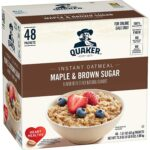 48/pk Quaker Instant Oatmeal Lower Sugar - <Span>$7.6 Shipped</span>