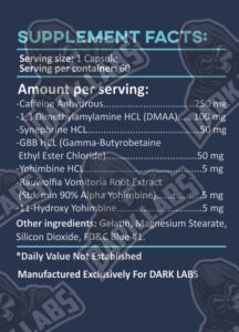 Dark Labs Ripper Ingredients