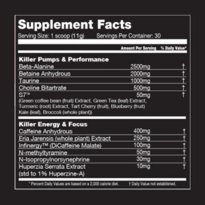 Executioner Pre Workout Ingredients