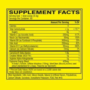 C4 Pre Workout Ingredients